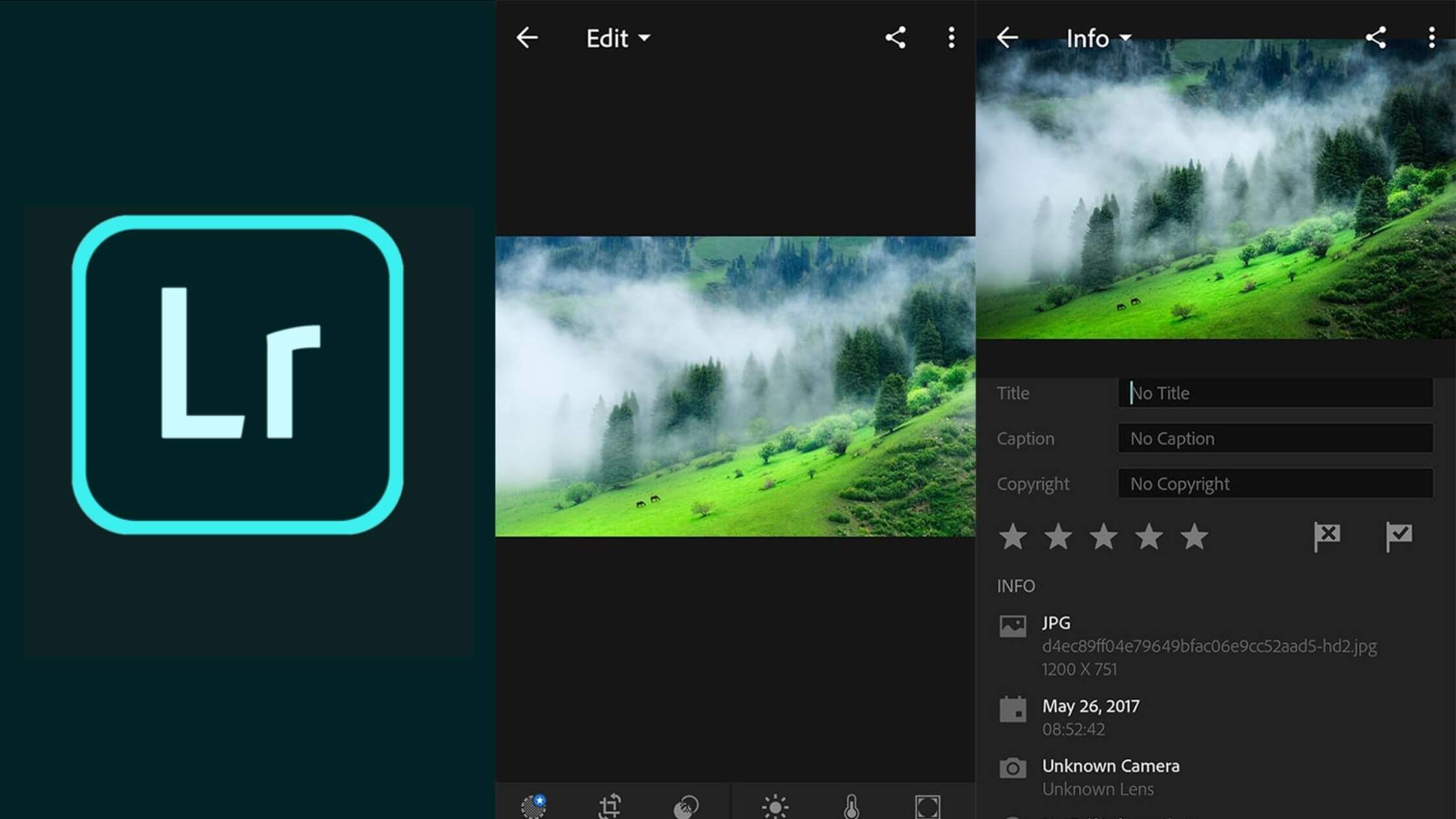 Adobe Photoshop Lightroom free for Android and iPhone