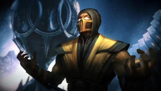 the Scorpion in Mortal Kombat 11
