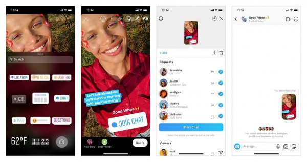 Instagram Stories: Group chat, how the new sticker works