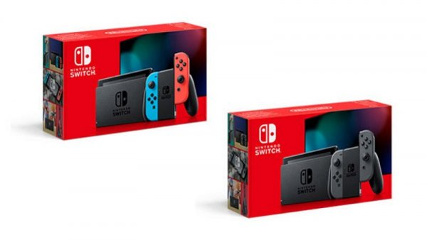 The new box for the updated version of Nintendo Switch