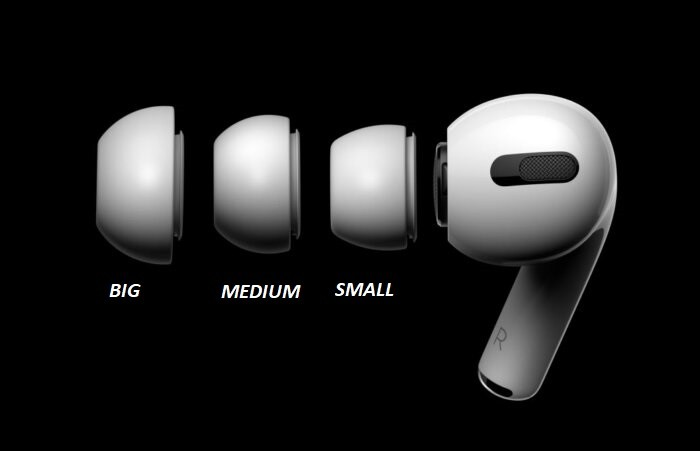AirPods Pro has three sizes to fit