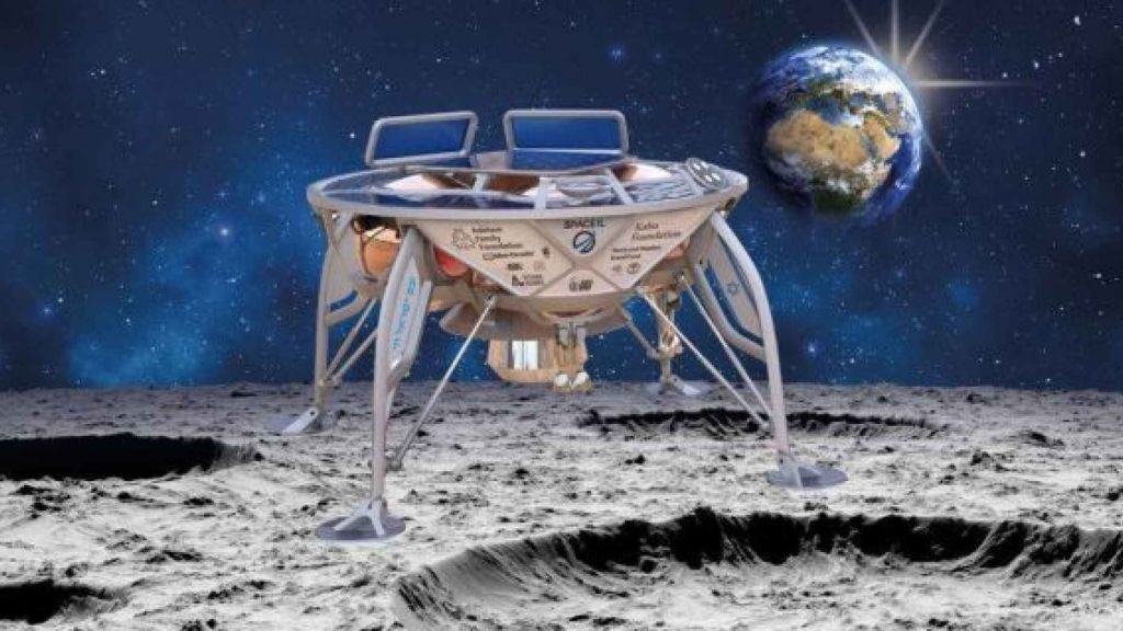 Concept imagined the Bereshett spacecraft on the moon