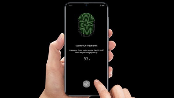 Galaxy A70 has built-in fingerprint reader