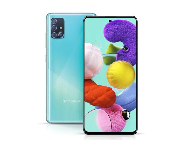 Galaxy A71 screen hole houses selfie camera