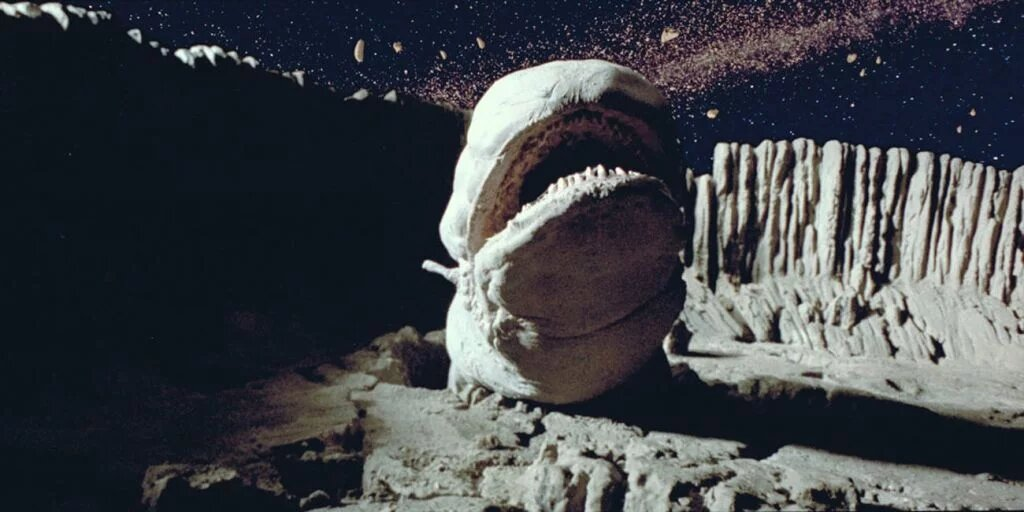 Giant worm that lives in the asteroid belt