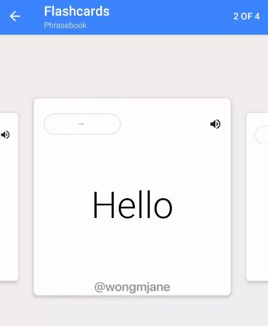 Google Translate tests new function with flashacards