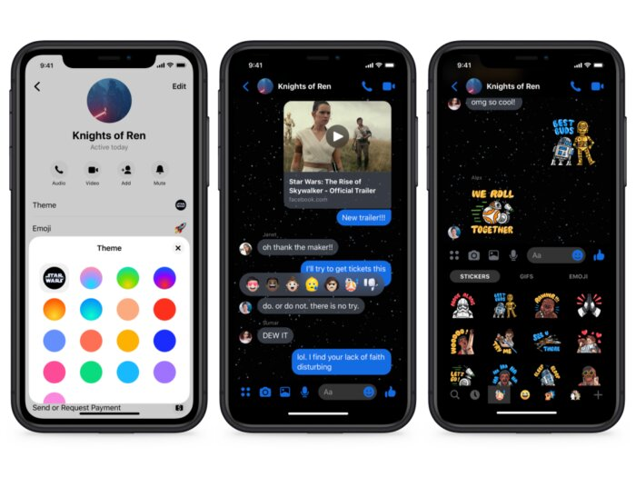 How to enable Star Wars theme in Messenger