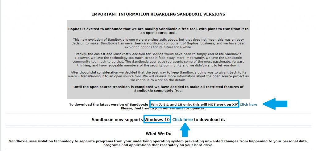 Install Sandboxie for free