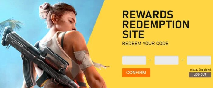 Redeem codes in Free Fire