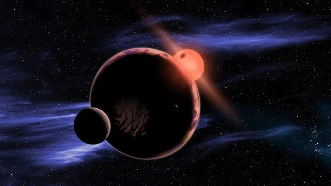 Simulation of an exoplanet that would be within the habitable range