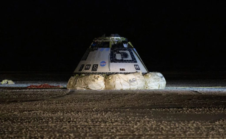 Starliner, or Calypso, following the successful return in White Sands