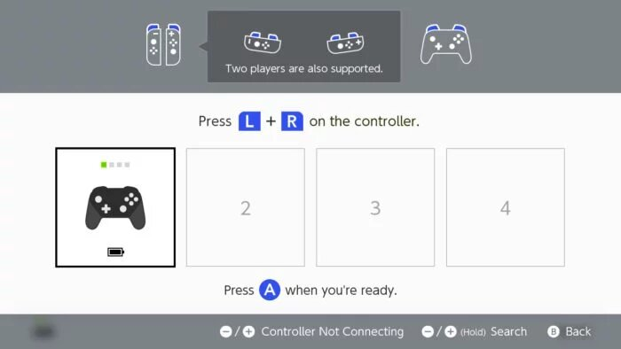 Pair Pro Controller on Switch 1