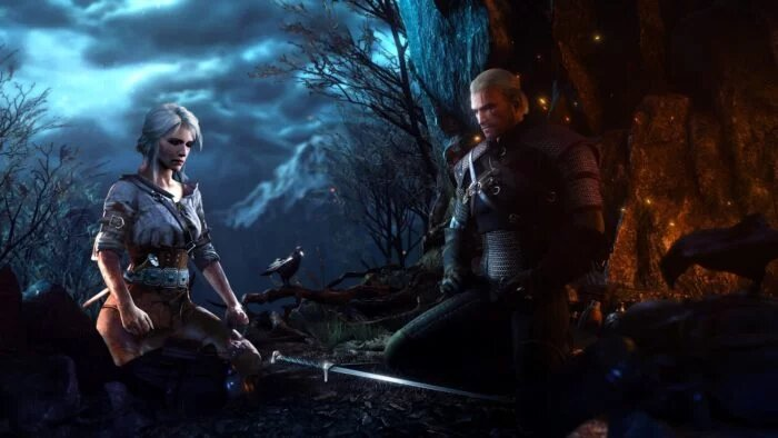 Ciri and Geralt in The Witcher 3