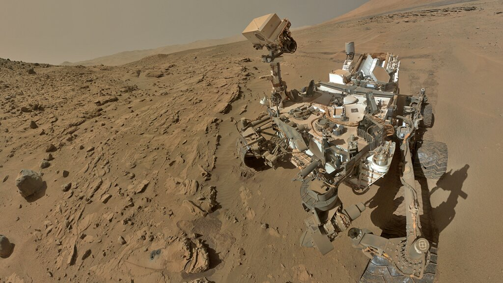 Rover Curiosity on Mars