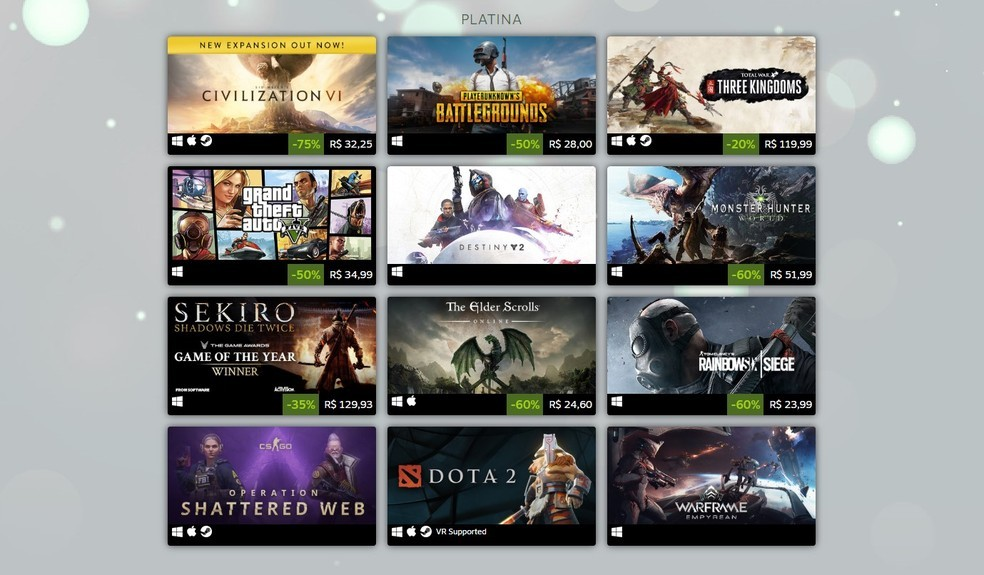 Steam unveils best-selling platform games in 2019