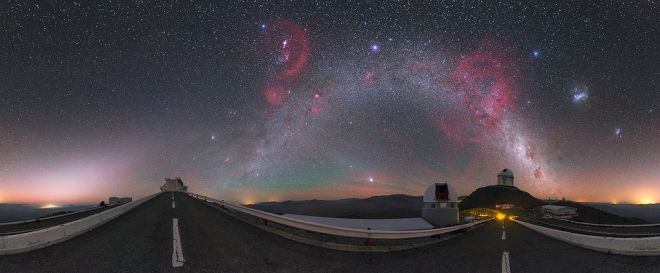 """The Chilean Sky with the Milky Way and """"Cosmic Fireworks"""""""