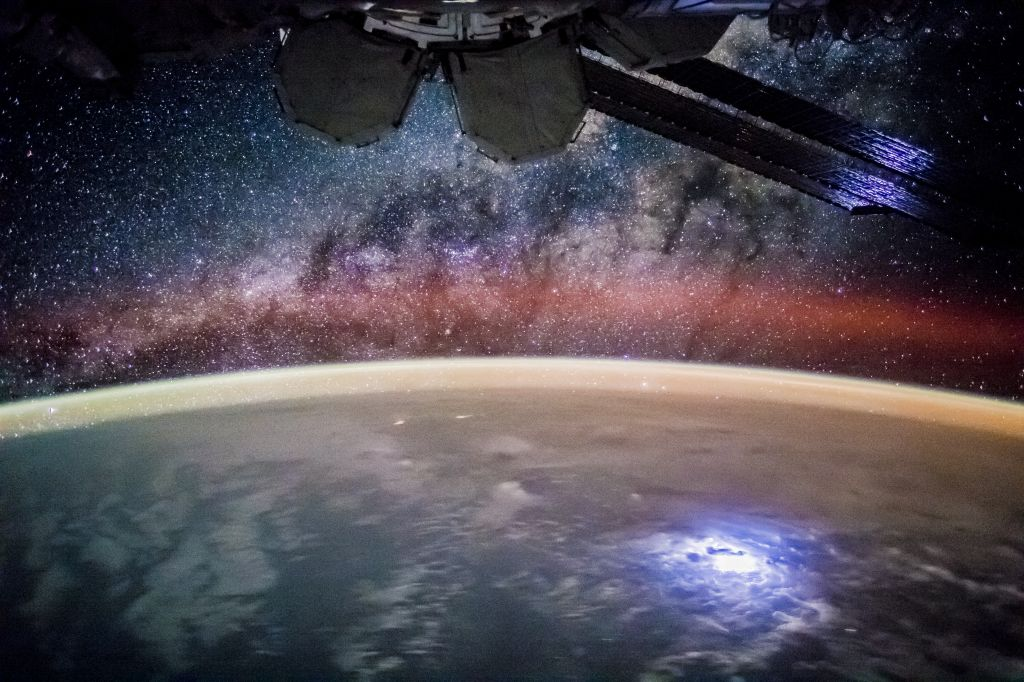 The Milky Way from the International Space Station