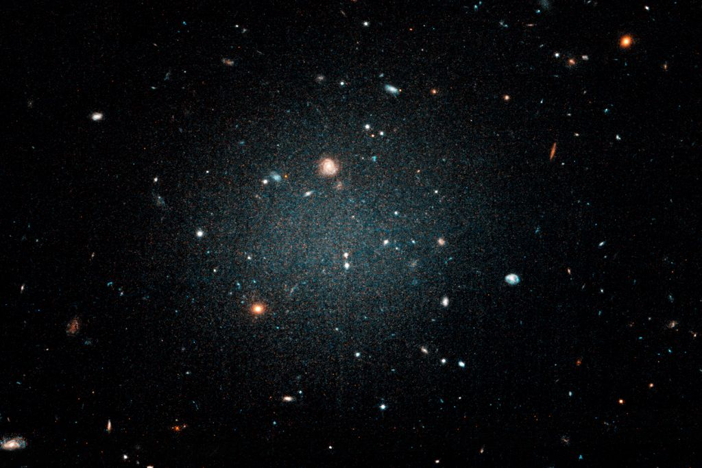The galaxy, which studies say may contain almost no dark matter inside