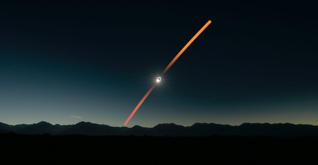 Total eclipse of the sun on July 2