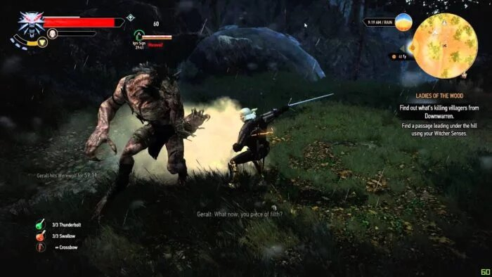 the witcher 3 werewolf battle