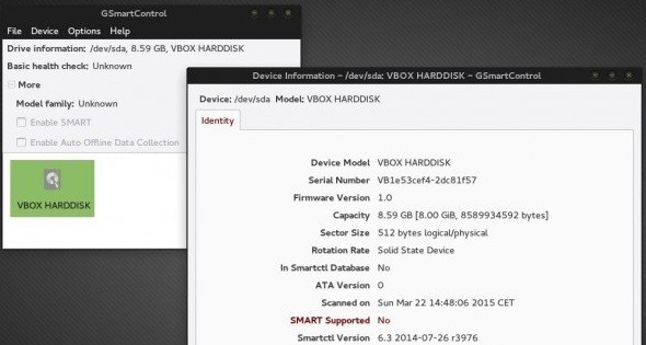 Check the hard disk health in Linux 1