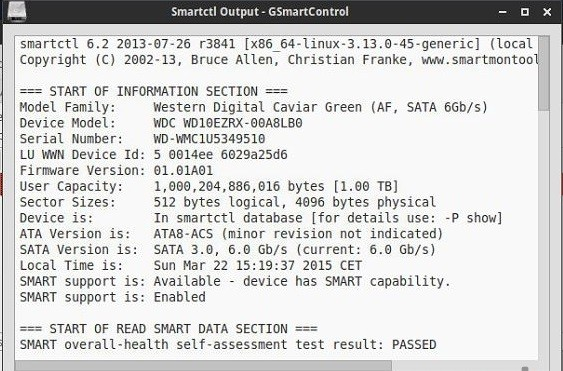 Check the hard disk health in Linux 12