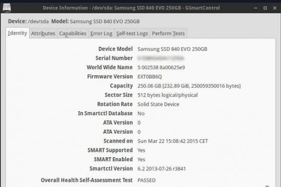Check the hard disk health in Linux 4