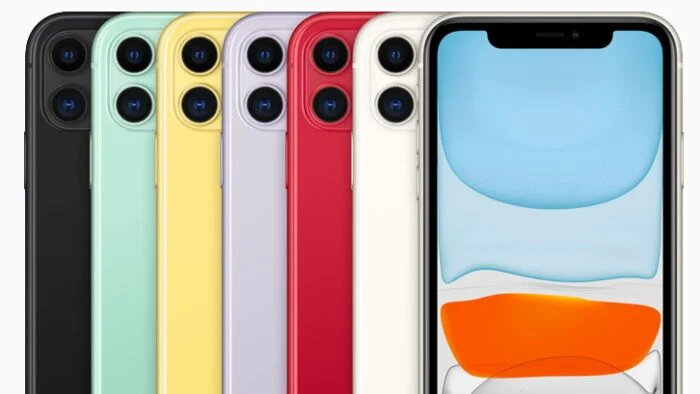 Apple iPhone 11 color variations