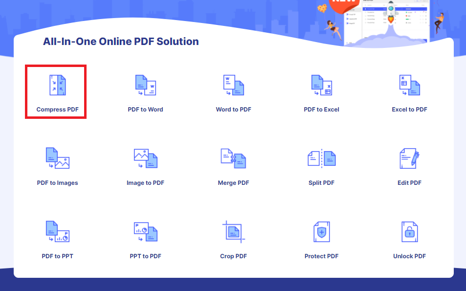 How To Compress PDF Online With HiPDF 1