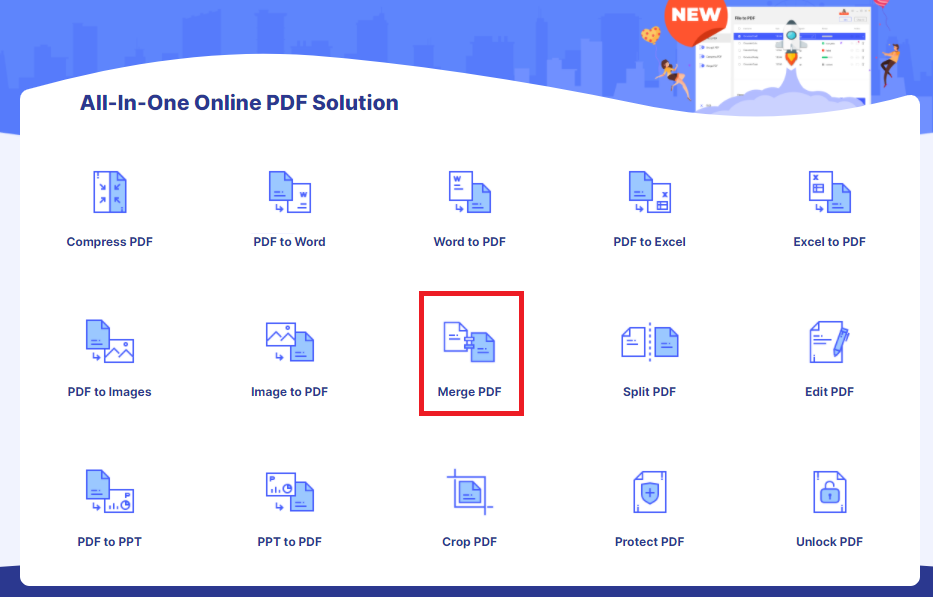 How To Merge PDF Online With HiPDF 1