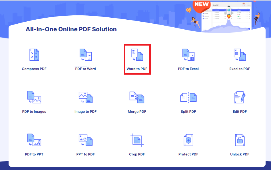 How To Use HiPDF Word To PDF Function 1