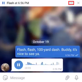 speed up the playback of long audios on Telegram