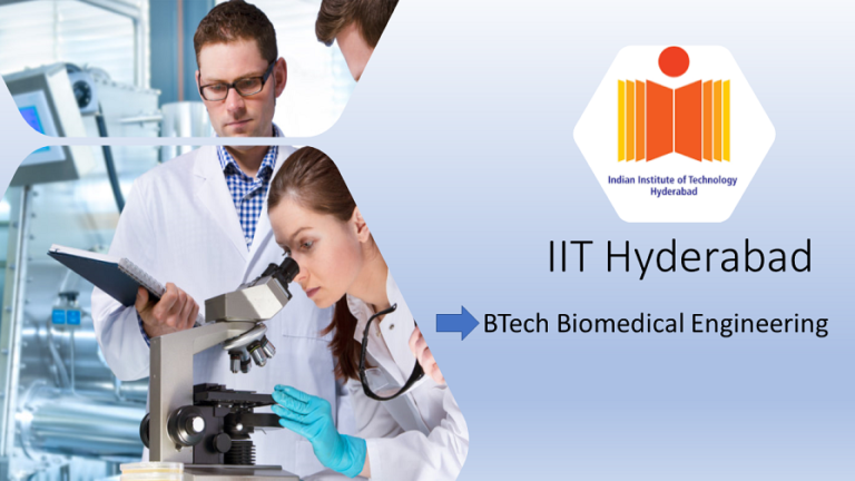 IIT Hyderabad's BTech in Biomedical Engineering